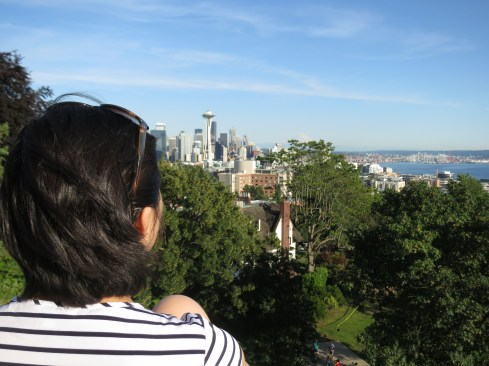 crying tears of awe or something, probably. @ Kerry Park