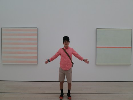 """clearly. this one's Happiness and this one's Homesick"" (or something like that) @ LACMA, which did not blow me away as much as their snapchannel."