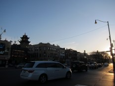 Chinatown, I think! golden hour snaps