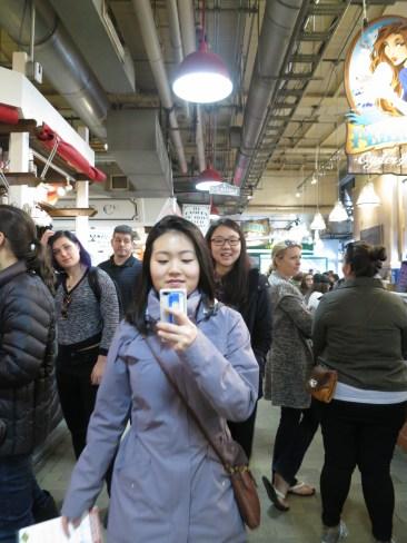 @ Reading Terminal Market! bfasting like qweens