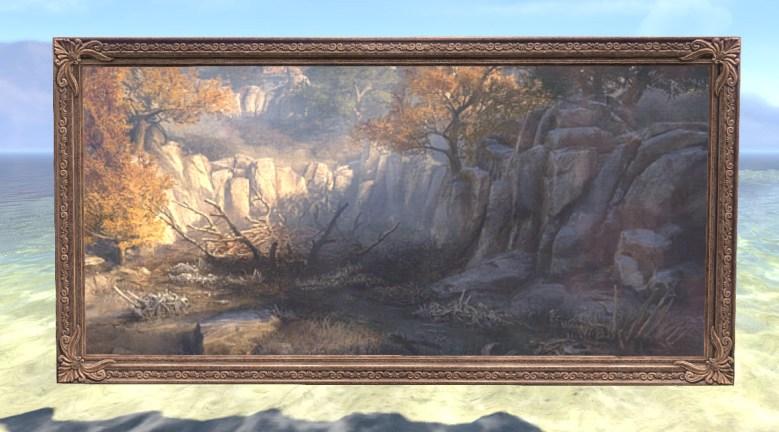 Painting of Gryphon Nest, Elegant