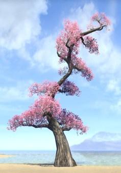 Tree, Vibrant Pink