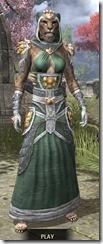 Dead-Water Homespun - Khajiit Female Robe Front