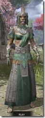 Elder Argonian Homespun - Khajiit Female Robe Front