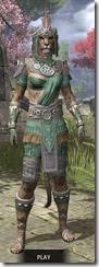 Elder Argonian Homespun - Khajiit Female Shirt Front