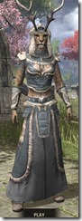 Huntsman Homespun - Khajiit Female Robe Front
