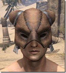 Khajiit Rawhide Helmet - Male Front
