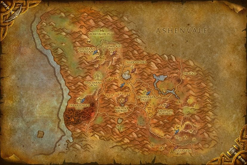 Kromgar Fortress Stonetalon Mountains Map World Of