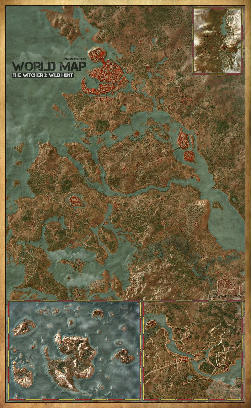 The Witcher 3: Wild Hunt Map - Blood and Wine - IGN