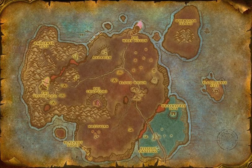 The Hidden Reef Bloodmyst Isle Map ID 3525 WotLK