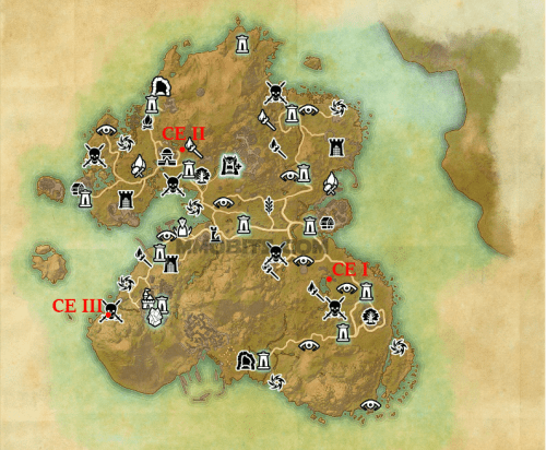 Summerset Ce Treasure Map Locations Mmo Bits