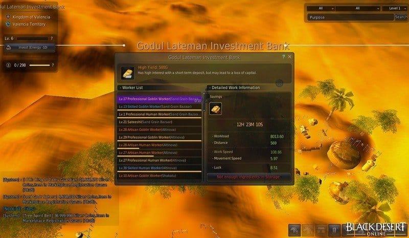 El mayor secreto de Black Desert Online - Guía de bancos