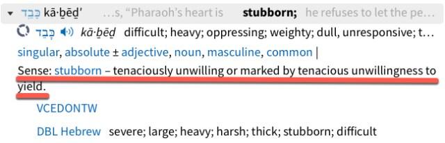 Exodus 7:14 stubborn