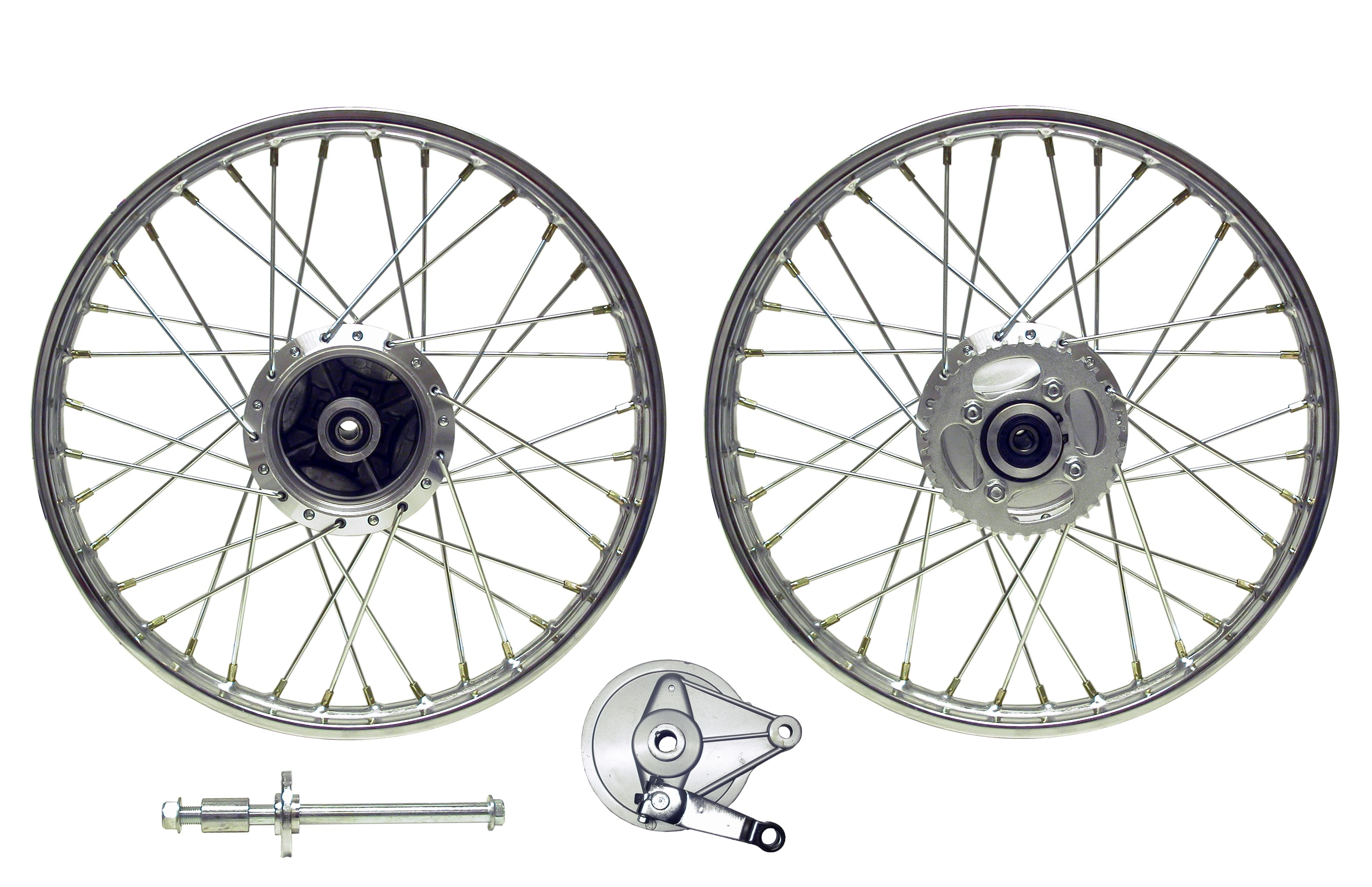 Front Wheel CG125 style drum with brake plate/(Rim 1.40 x