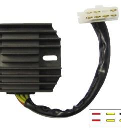 regulator rectifier fits honda gl1100 gl1200 7 wires sh541c 12 each  [ 1714 x 1338 Pixel ]
