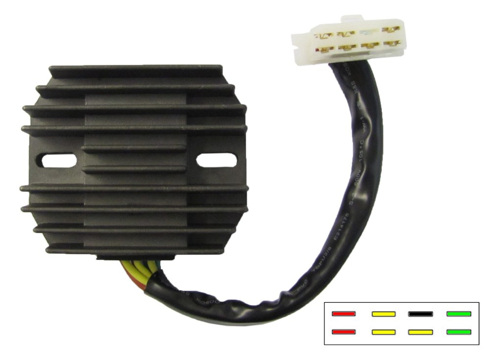 medium resolution of regulator rectifier fits honda gl1100 gl1200 7 wires sh541c 12 each