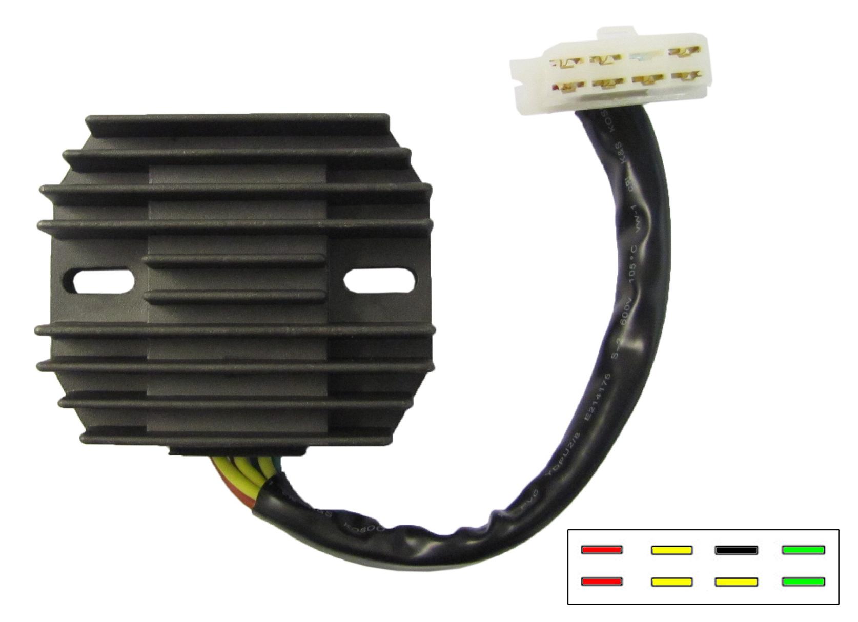 hight resolution of regulator rectifier fits honda gl1100 gl1200 7 wires sh541c 12 each