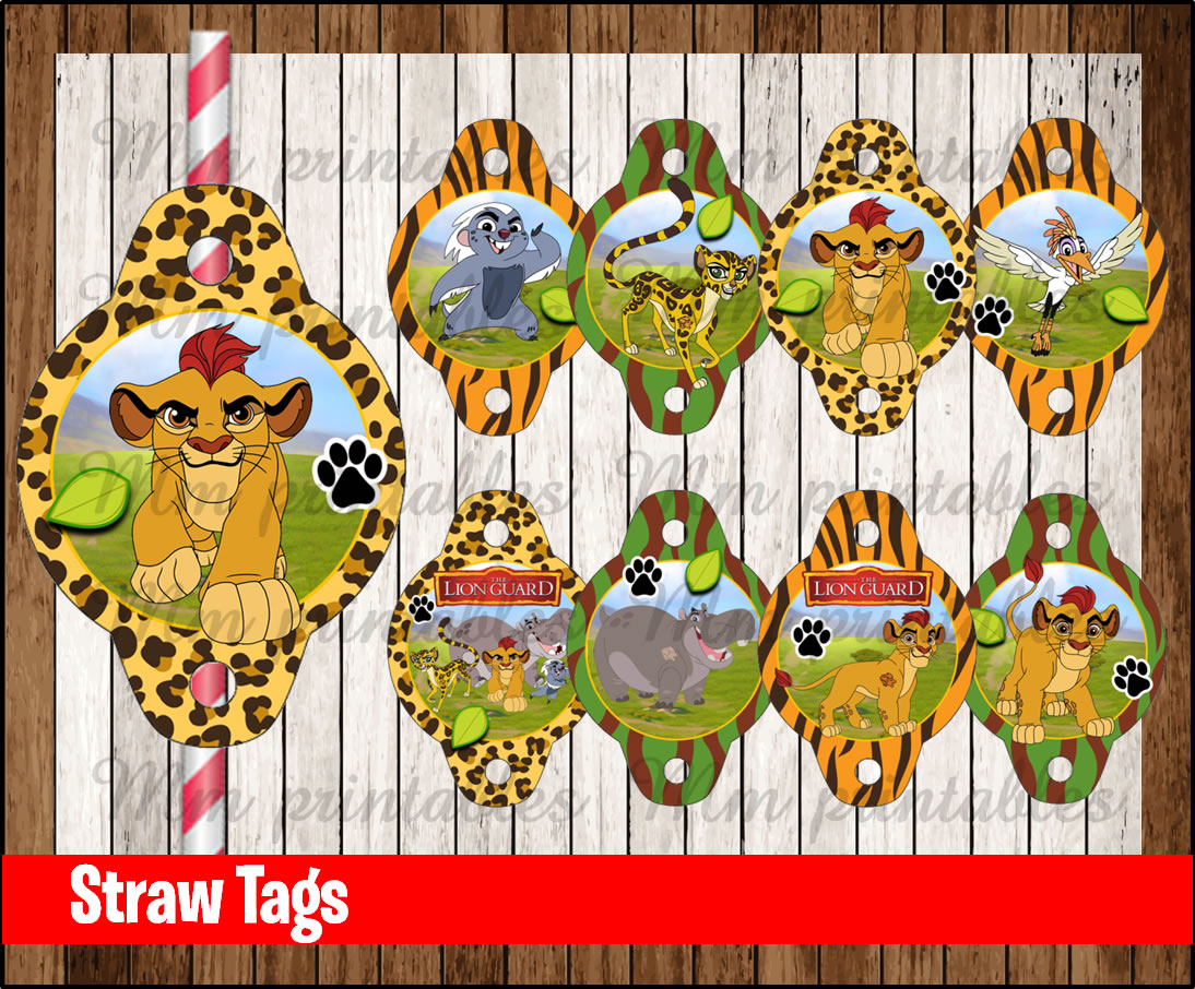 80 Off Sale The Lion Guard Straw Tags Instant Download