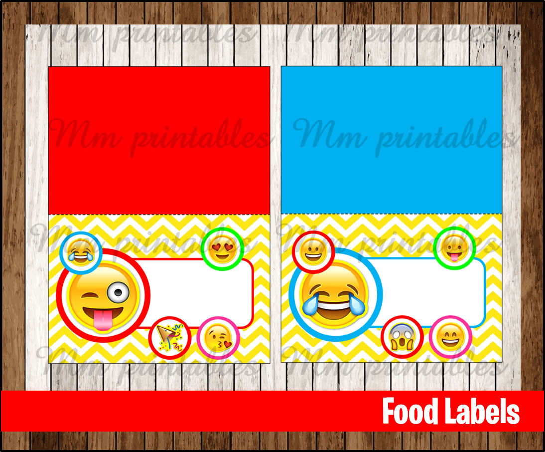 80 Off Sale Emoji Food Tent Cards Instant Download