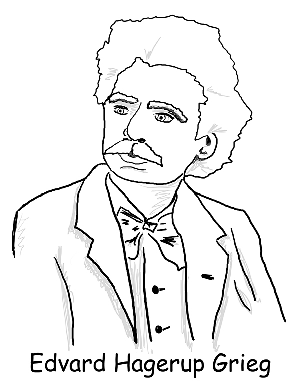 Composer Printable Coloring Pages