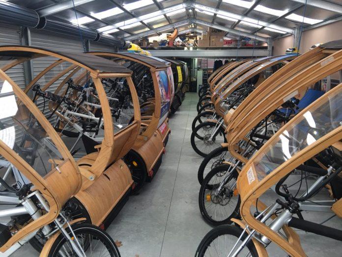 Eco Caddy Fleet parked
