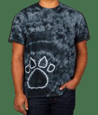 Custom Dyenomite Paw Print Tie