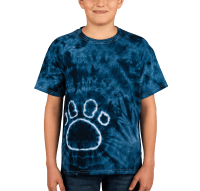Custom Dyenomite Youth Paw Print Tie