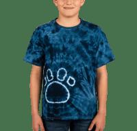 Custom Dyenomite Youth Paw Print Tie-Dye T-shirt - Design ...