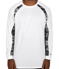 Custom Badger Digital Camo Long Sleeve Performance Shirt