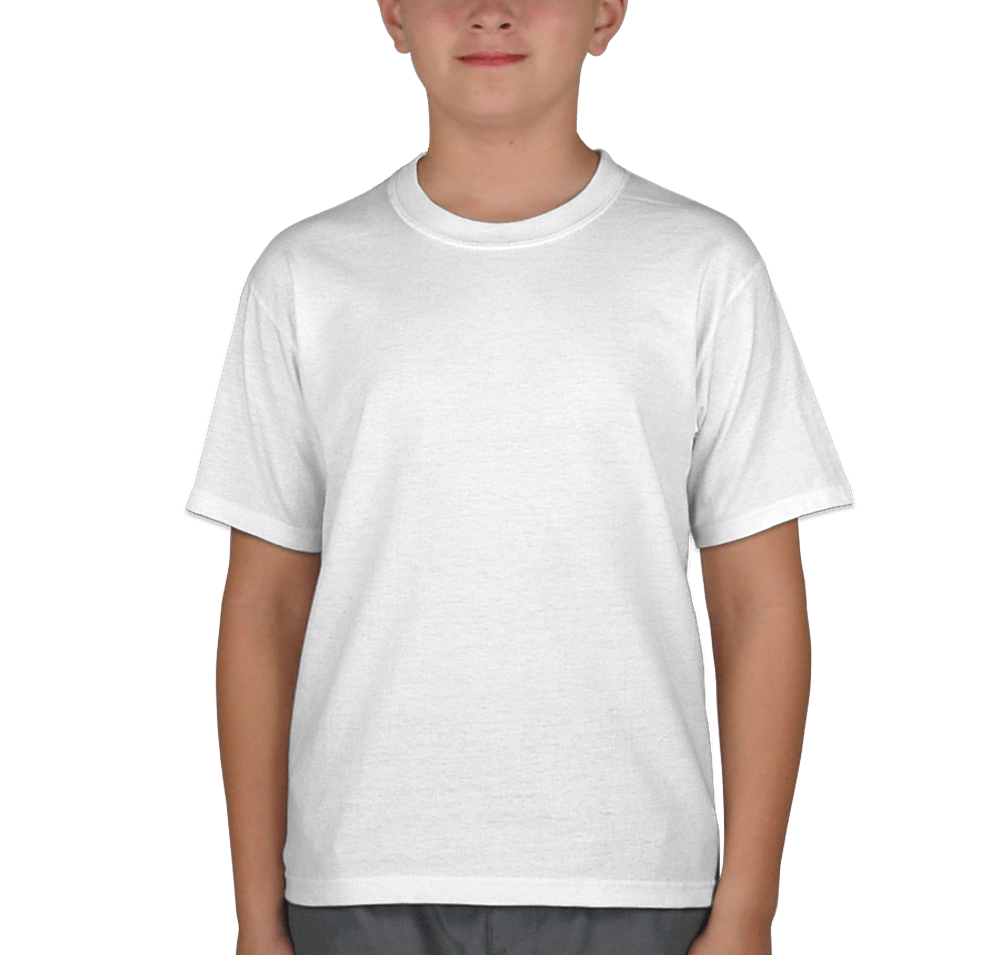 Jerzees youth  shirt white also design custom kids cotton poly tees rh customink