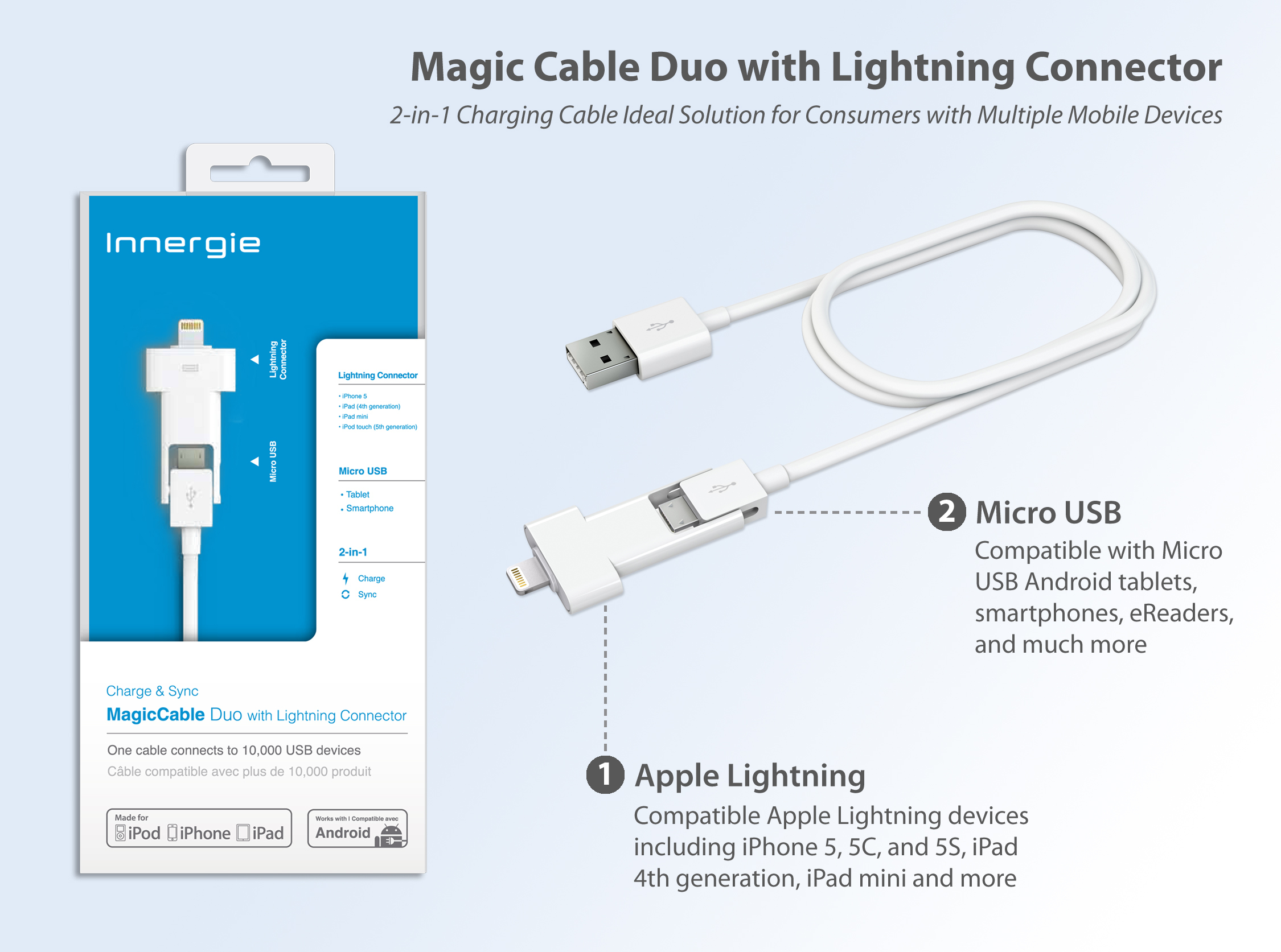 small resolution of innergie introduces magicable u2122 duo with lightning lightning connector wiring color lightning connector pin out wiring diagram