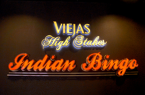 The new Viejas Bingo Hall opened April 4, 2014 at Viejas Outlets, directly across the street from Vi ...