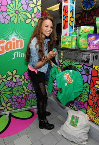 Latin Grammy nominated singer-songwriter Leslie Grace makes laundry joyful at the Gain #MusicToYourN ...