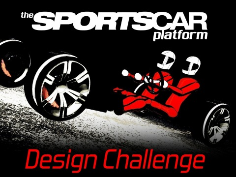 Design a conceptual guide for a stripped-down track car version of the sports car platform being dev ...
