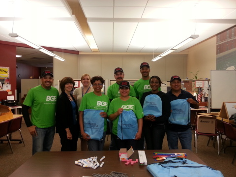 BGE employees celebrate National Hispanic Heritage Month with a volunteer event at the Esperanza Cen ...