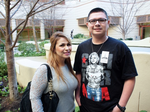 Ray Santa Cruz of Salinas, Calif., seen here with mom Joanna, had a heart condition that could lead...