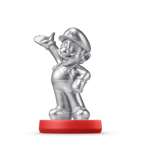The Mario - Silver Edition amiibo figure will be available May 29 at major retailers nationwide and  ...