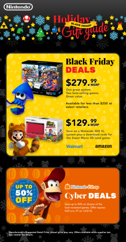 Major retailers nationwide will be offering heaps of great deals on some of Nintendo's most popular ...