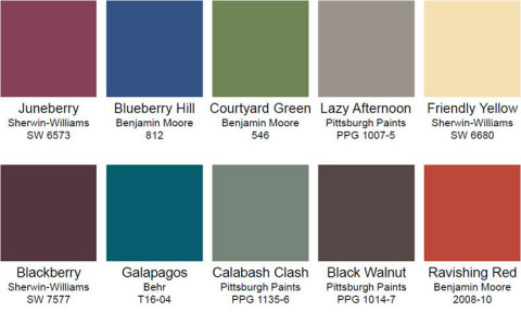 Here are the top 10 hot colors for doors in 2016. (Photo: Business Wire)