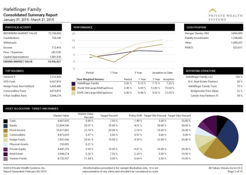 Private Wealth Systems' consolidated summary report. Captures, consolidates, cleanses, calculates, a ...