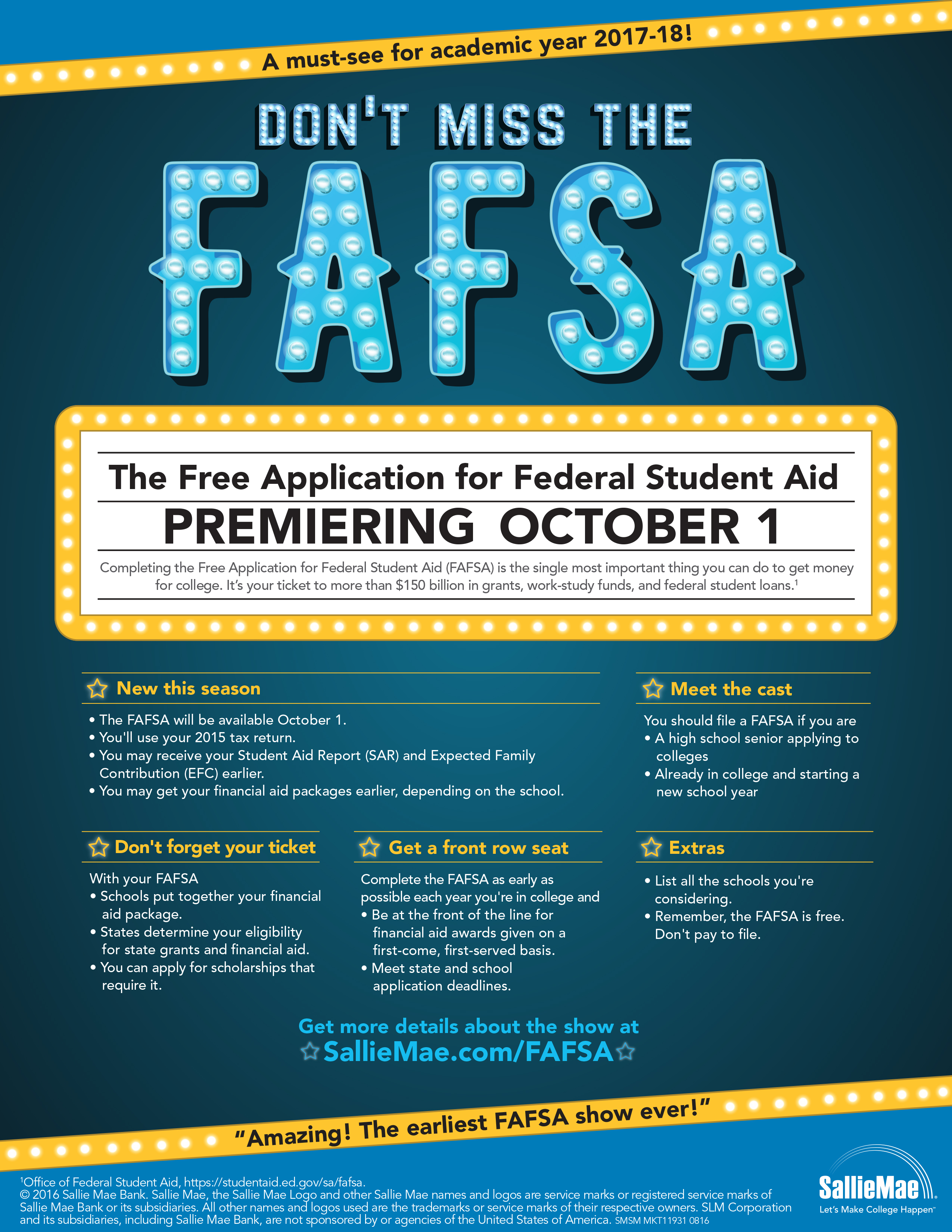 Reminder: The Free Application For Federal Student Aid (Fafsa) Will Be  Available On Saturday, Oct. 1 | Business Wire