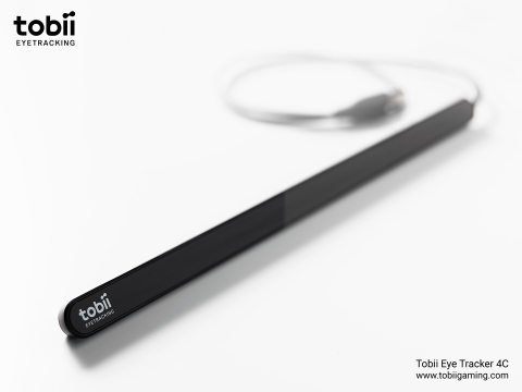 Tobii Eye Tracker 4C, Tobii's second generation gaming peripheral. (Photo: Business Wire)