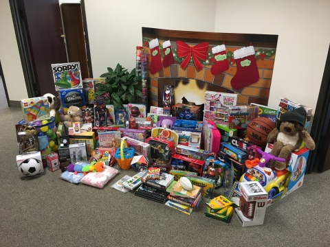 TCI and Pillar Income Asset Management toy collection for Family Gateway's Holiday Closet (Photo: Business Wire)