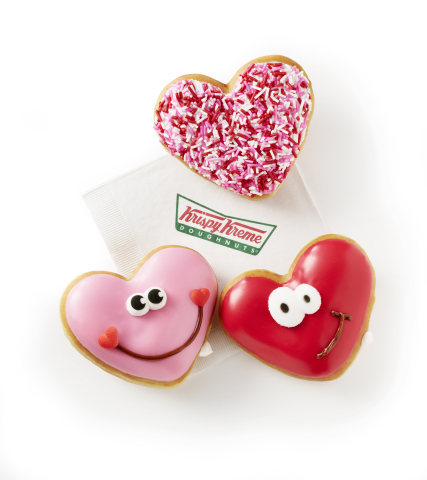 Happy Hearts Krispy Kreme Doughnuts Showcases Heart