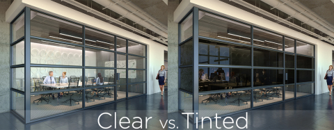 Halio smart-tinting glass' neutral gray shades complement any style or decor. On command, Halio wall ...