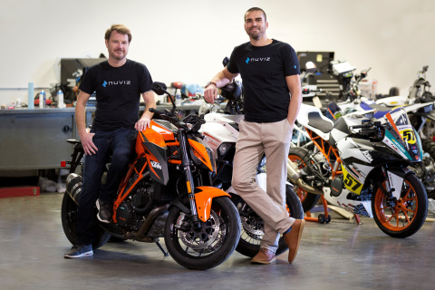 Pictured are NUVIZ's co-founders (left is Marcel Rogalla, Co-Founder at NUVIZ and right is Malte Laa ...