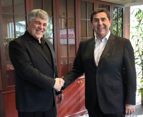 (From right to left) Joan Vilà, Executive Chairman of Hotelbeds Group and Uri Argov, CEO of Tourico ...