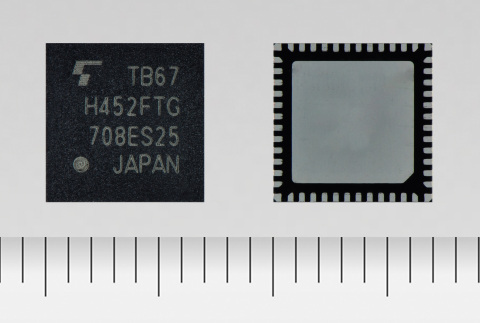 """Toshiba: """"TB67H452FTG,"""" a 4-channel H-bridge motor driver IC offering a high voltage of 40V and curr ..."""