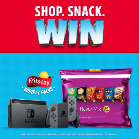 Between now and July 8, Frito-Lay is giving away one Nintendo Switch system and a game every single ...