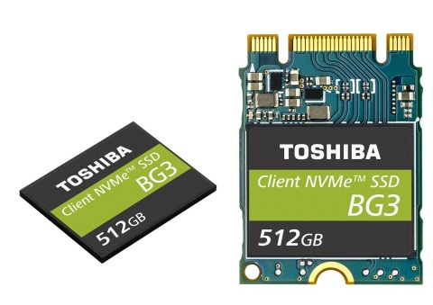 Toshiba Memory Corporation: Single Package NVMe(TM) Client SSDs Utilizing 64-Layer, 3D Flash Memory  ...